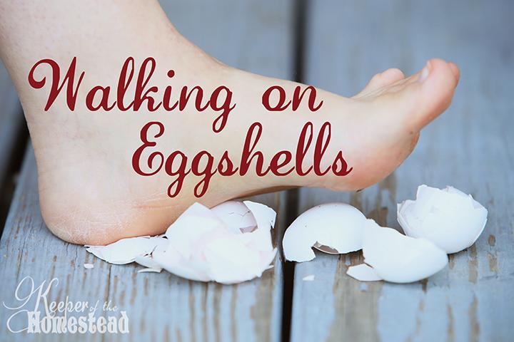 Walking on eggshels