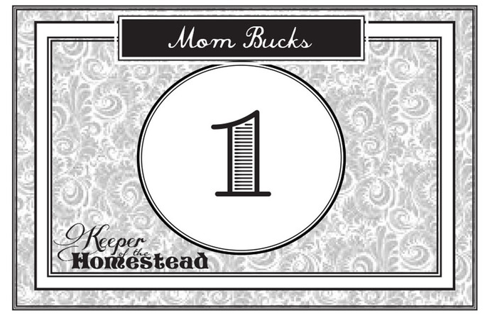 photo relating to Mom Bucks Printable named Etiquette: Staying upon Year - Keeper of the Homestead